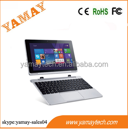 2 in 1 window 10 tablet notebook computer 10.1inch IPS 1280*800 intel cherry trail z8300 mini pc laptop computer