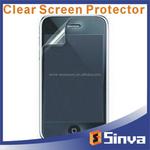 Japan PET high transparency crystal clear screen protector for iphone 4S 5S 5c smart phone