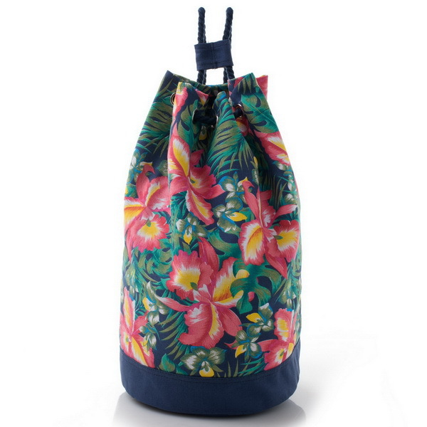 Fashion printing drawstring women backpack