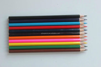 Hexagonal Color pencils with treated poplar wood and jump grooving