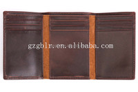 Rfid Blocking Men Leather Tri-fold Walllets with Mult-functional Purses