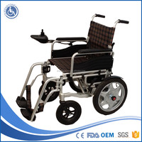 Aluminum lift Physical Equipments folding wheelchair motorised Power Wheelchair FOR elderly people