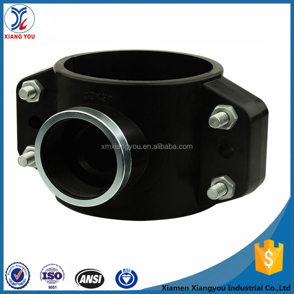 PP hdpe pn16 pipe clamp saddle compression fitting for irrigation