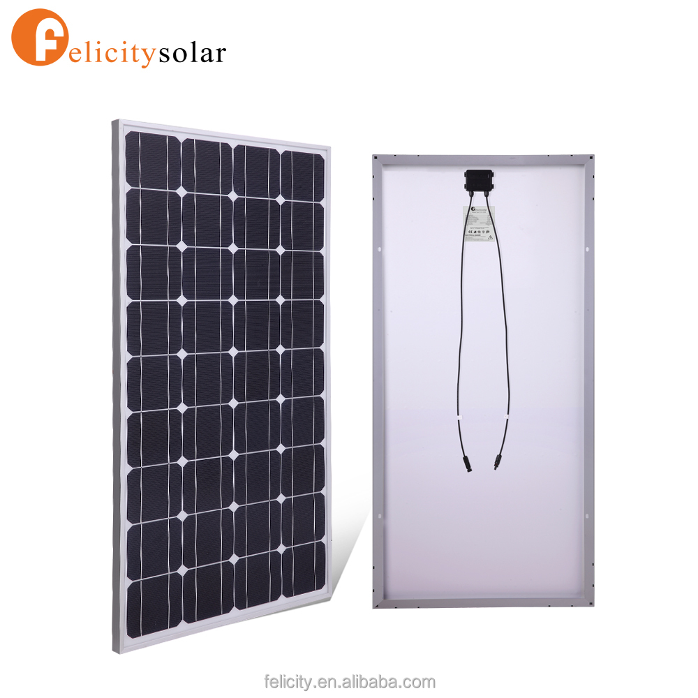 Taiwan cell 150W 18V monocrystalline solar panel for home power system