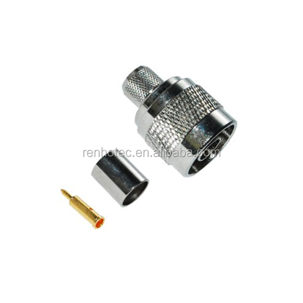 RF Coaxial Connector N Straight Crimp Plug for LMR400 cable, 50 ohm
