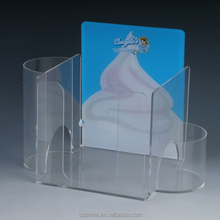 Cheap acrylic material food display risers in stock with high quality