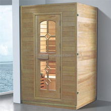 1-2 person steam room wooden MiNi home sauna and dry steam sauna room