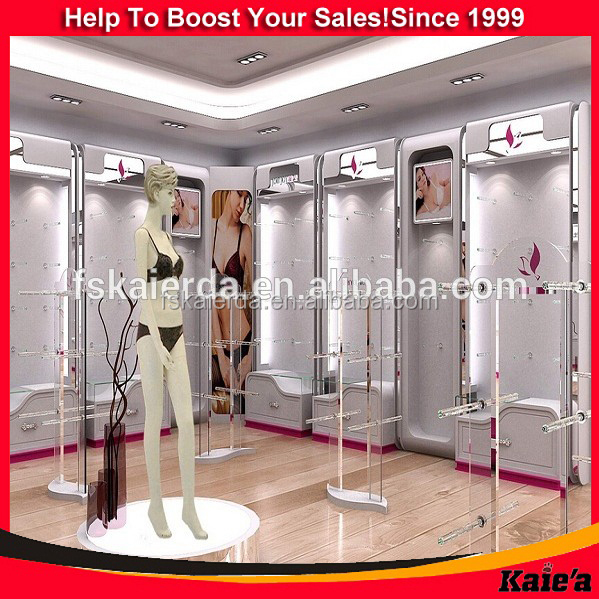 2015 decoration for underwear shop racks and underwear shop decoration