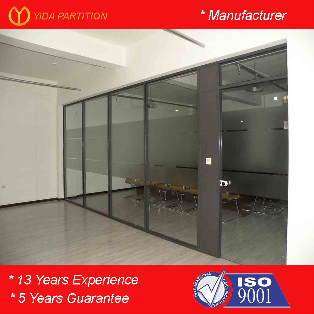 Fireproof Commercial Office Furniture Fixed Tempered Glass Room Dividers