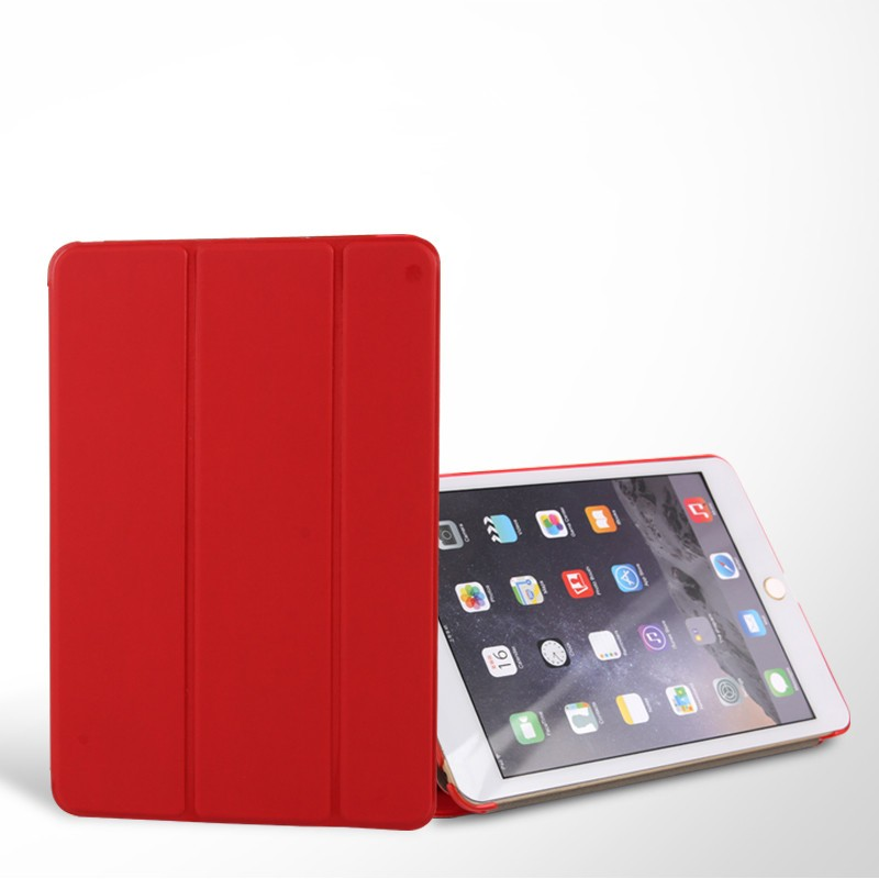 New Arrival 3 Folders Stand PU Case PC Back Cover Smart Leather Case For iPad pro 10.5""