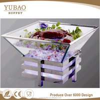 Food cooler container, refrigerated display case counter, refrigerated container used china