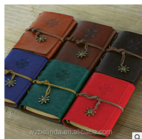 engraved vintage style traveler journal pocket notebook with craft paper 5""