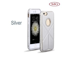 wholesale cell phone accessories 5 colors aluminium crystal case for iphone 6&iphone 6 plus