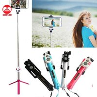 Wholesale Universal Extendable With Remote Shutter Monopod with Stand Tripod Selfie Stick Bluetooth