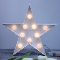 24cm 11L Warm White LED wholesale rustic home decor star lights
