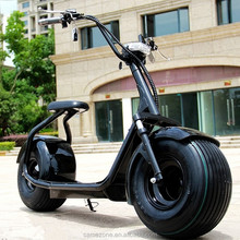 CE FCC Aproved fat tire Electric Scooter Harley City coco with Front and Rear Dual Shock Suspensions