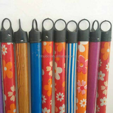 wooden adjustable mop plastic broom stick handle