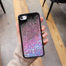 TPU quicksand phone case star shining sequins mobile phone back cover shell for iPhone 8/8 plus