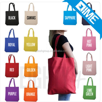 Top Quality Cotton Fabric Customized Cotton Tote Shopping Bag