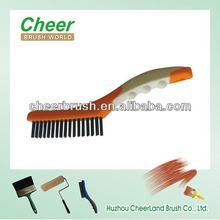 steel/brass wire cleaning brush with stainless steel wire wheel brush