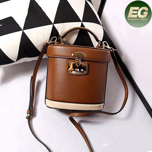 New style color collision ladies handbags real leather mini shoulder bag for daily shopping EMG4853