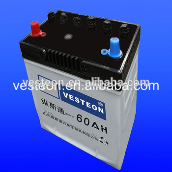 car and truck batteries 12V55ah NS60AH