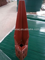 Powder Coated Steel Spike Support 100*100*750*2 mm