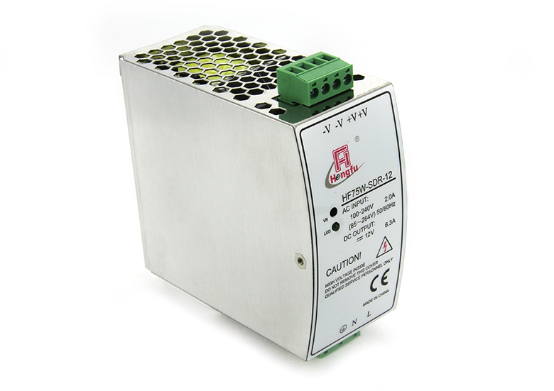 Hengfu HF75W-SDR-12 (12V 6.3A)AC/DC output DIN Rail switching power supply