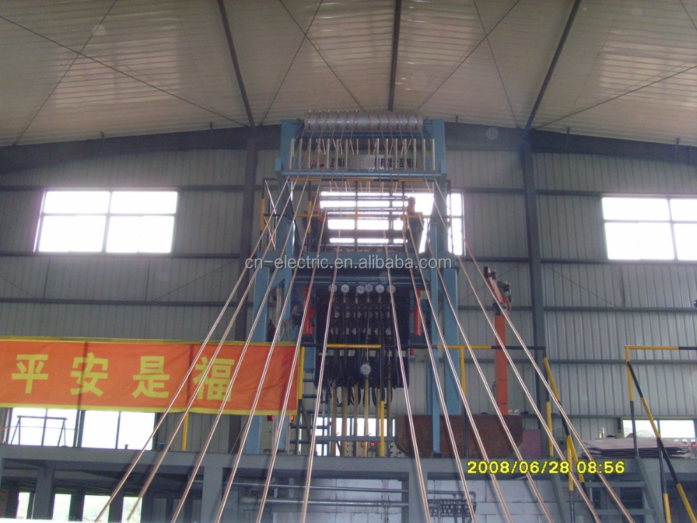 Oxygen-free upward copper rod continuous casting machine rolling line drawing machine