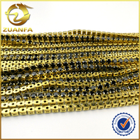 1.75mm 2mm four-craw black AAA shinning cz stone not plated brass cup chain