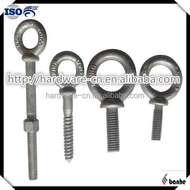 Marine hardware fasteners lifting eye bolt