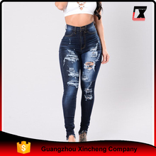Wholesale 2017 latest design slim fit casual tight pants women jeans
