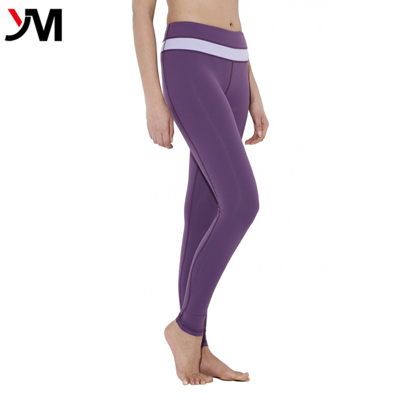 Cheap wholesale women compression tights pure color yoga pants sexy sport workout leggings