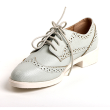 Mint green color lace up turkish nude kids shoes mould