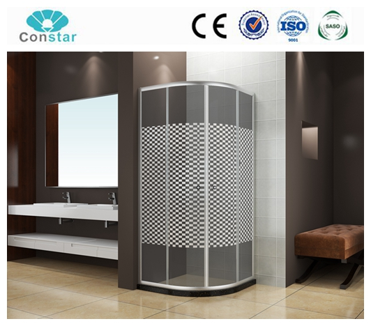 Aluminum Frame Sliding Open Style Fiberglass Massage Water Shower Enclosures