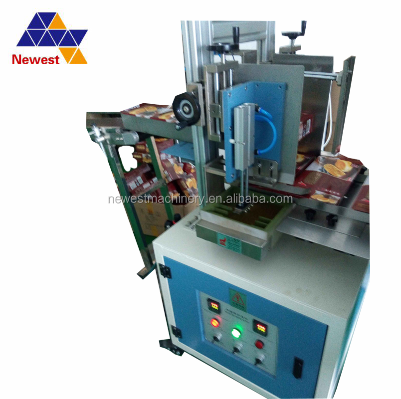 Newest Teflon glue conatainer cheese wafer box gluing machine/Biscuit Carton Shrink Wrapping Machine