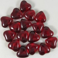 Acrylic & Glass Red Heart Gem