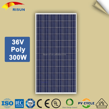 High Efficiency 36V Poly Solar Panel 300W Made in China for Solar Power Plant