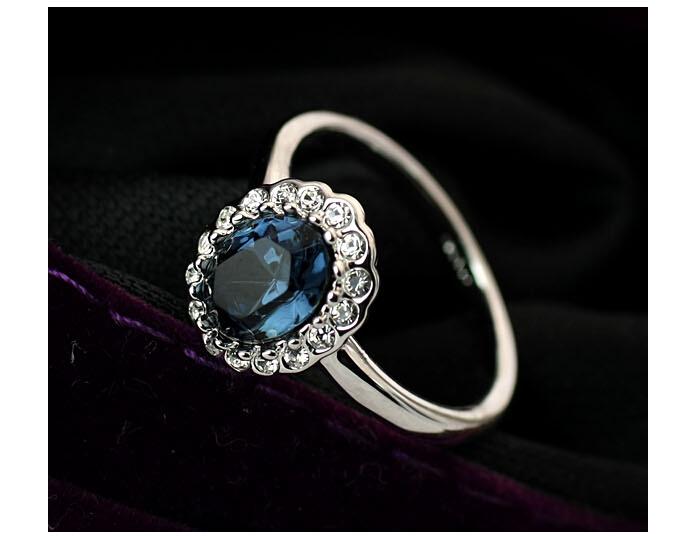 new design finger ring changing blue color mood