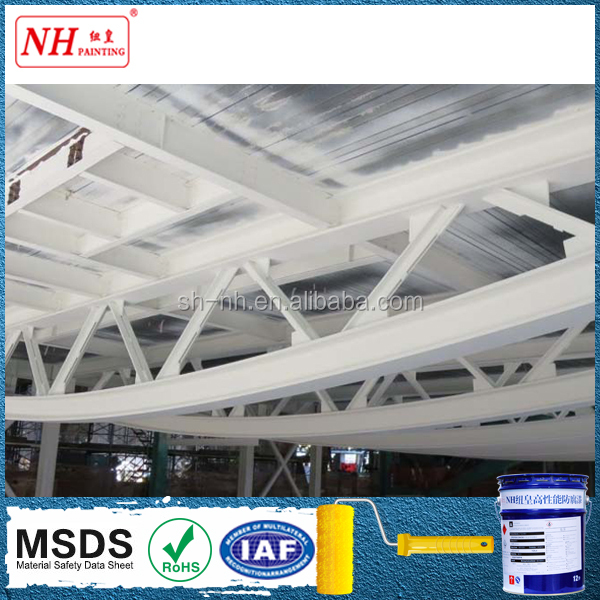Outdoor fireproof intumescent paint for steel structure