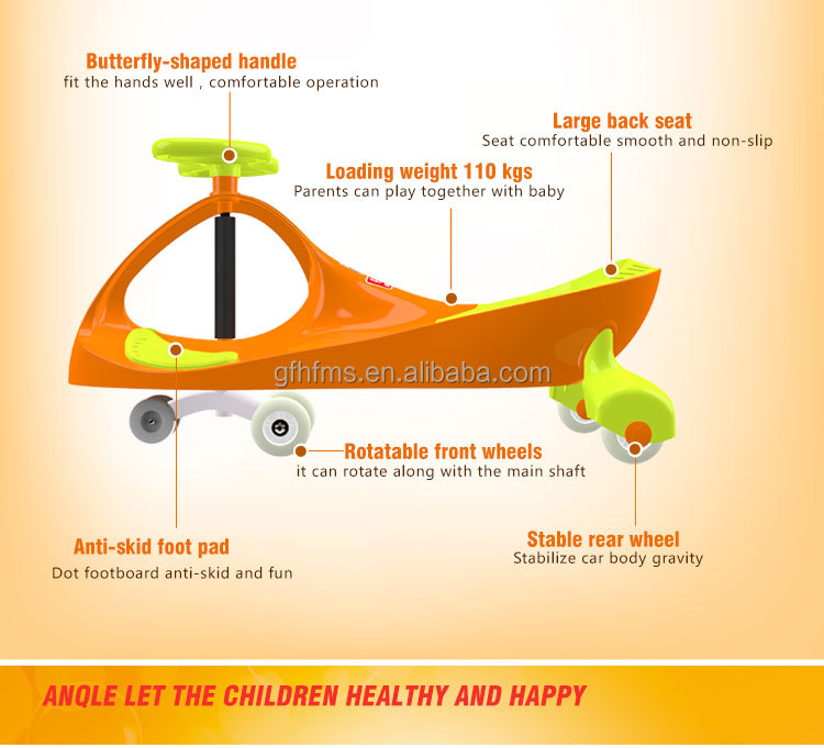 High Quality Best Price Hot Sell Classic Style PP Material PU Wheel Children Toy Ride On Swing Car