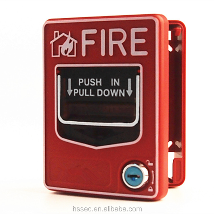 Conventional resettable 24V Conventional Pull Station Manual Call Point For Fire with great price