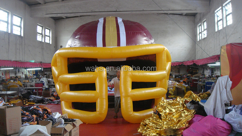 Super inflatable football helmet tunnel,promotional football helmet