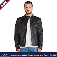 Cheap eco-friendly sheep skin fur winter man leather jacket