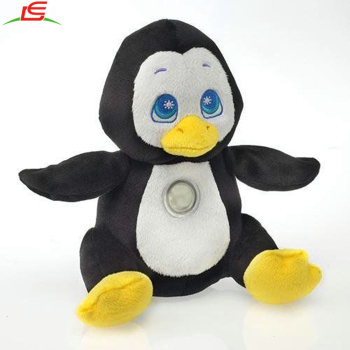 Stuffed Plush Huggable Loveable Children Flash Light Penguin