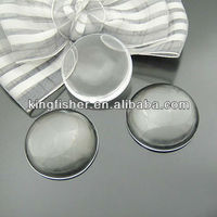 Fashion round shape glass cabochons beads!! Flatback clear round glass cabochons dome beads!! 30mm!! Stock Available!! !!