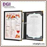 Triple Panel restaurant menu card holder , new launched bar equipment /corkscrew opener