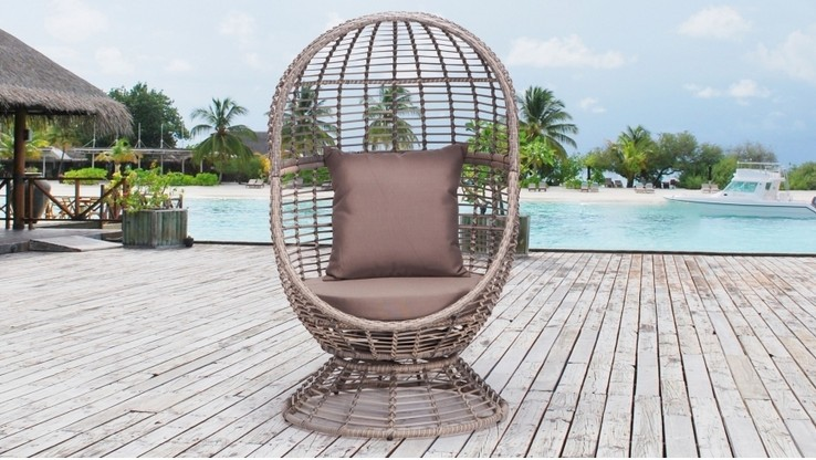 2017 Sigma latest metal bed designs outdoor daybed swivel egg chair for sale