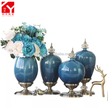 hot selling wholesale ceramic jar porcelain flower vase