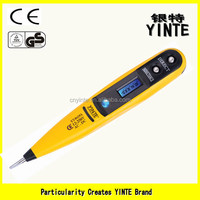China factory digital LCD display voltage tester pen screwdriver type tester with blue screen display and sensor ,gold PCB